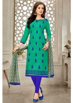 couleur verte brasoo costume coton churidar, - 61,00 €, #Salwarkameezfemme #Salwarkameezmariage #Salwarkameezenligne #Shopkund