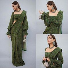 Sonam Kapoor Ahuja's floral saree is the perfect outfit to add to your wardrobe for the festive season Sleeves Designs For Dresses, Fancy Blouse Designs, Saree Blouse Designs, Saree Wearing Styles, Saree Styles, Indian Bridal Outfits, Indian Designer Outfits, Stylish Sarees, Stylish Dresses