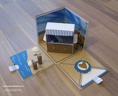Geschenkbox Strandkorb Norddeutschland Reise Gutschein Geldgeschenk Überraschungsbox Explosionsbox Strand Ferien Meer