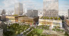 Roof gardens and public spaces; Delancey and Essex Development, SHoP; Lower East Side, New York City