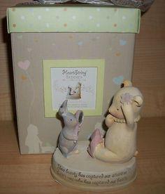 Heart String Teddies You Captured Our Heart Figurine Seagull Studios | eBay
