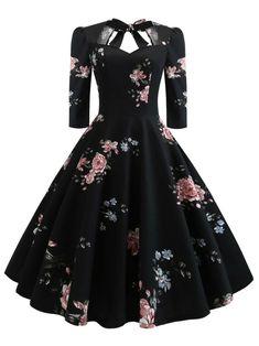 Floral Print Knot Dress - Outfits - Welcome Haar Design Elegant Dresses, Pretty Dresses, Vintage Dresses, Beautiful Dresses, Casual Dresses, Formal Dresses, Wedding Dresses, Casual Outfits, Awesome Dresses
