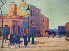 Helena Bonett, ''In these English farms, if anywhere, one might see life steadily and see it whole': Representations of the Countryside in the Paintings of Robert Bevan and E. Forster's Howards End' (The Camden Town Group in Context) French Impressionist Painters, Impressionist Artists, Camden Town, Camden Group, London Painting, Swiss Cottage, London Art, East London, Urban Life