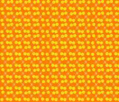 Orange sparkle in her eyes by crycepaul on Spoonflower - custom designed fabric, wallpaper and decals  Visit my shop on www.Spoonflower.com