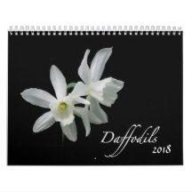 Daffodil Flowers 2018 Floral Photography Calendar
