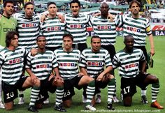 Sporting Squad 2004-05 - Sporting Lisbon team line up prior to the UEFA Cup Semi Final, 1nd Leg, match between AZ Alkmaar and Sporting Lisbon in 2005 in Lisbon , Portugal