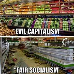 How can people think that Socialism/Communism is a good thing ? Yes, Capitalism has its flaws, but at least ther is the possibility to work on these, unlike in oppressive socialist states. Truth Hurts, It Hurts, Hard Truth, Liberal Logic, Liberal Tears, Liberal Hypocrisy, Out Of Touch, Political Memes, Political Science