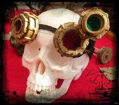 Occhiali Steampunk Ottone Anticato