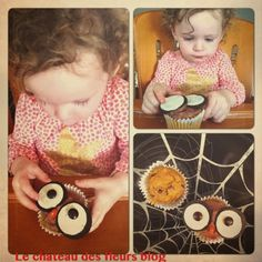 Pumpkin owl cupcakes: fun kid treat #cupcakes