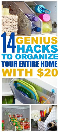 14 Easy Ways To Organize Your Entire Home For Less Than $20 - That Vintage Life