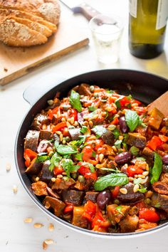 With peppers, aubergines and tomatoes, this Caponata Siciliana captures everything that is wonderful about fresh summer produce. Perfect with crusty bread!