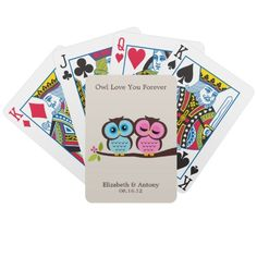 Eat Drink And Be Married Custom Wedding Favor Deck Of Cards