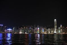 beautiful night view in Hong Kong