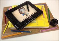 tablet/ sketch book cake by debbiedoescakes, via Flickr