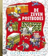 """Seven Little Postmen by Margaret Wise Brown and Edith Thacher Hurd, illustrated by Tibor Gergely, One of the books written as a plan for a handful of """"little civics books"""" which would teach kids about the activities of the working people Old Children's Books, Vintage Children's Books, My Books, Teen Books, Vintage Kids, Margaret Wise Brown, Going Postal, Bad Kids, Little Golden Books"""