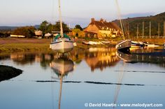 Reflections at Porlock Weir by David Hawtin - www.exmoorarts.com