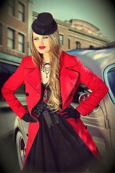 Pretty In Punk Coat (Scarlet)
