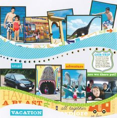 Vacation/trip scrapbook layout - Would be good for Sea World
