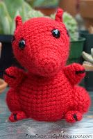Free Patterns by H: Hannah's Red Dragon