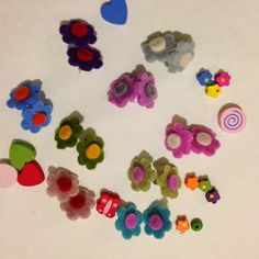 felt flowers earrings