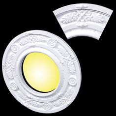 "Recessed Lighting Trim Rings Recessed #light Ring White Trim 65"" Id X 10""od Mini Medallion"