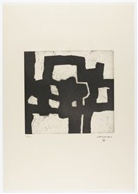 Available for sale from Galerie Boisseree, Eduardo Chillida, Homenaje a Picasso Etching and aquatint, 76 × 56 cm Art And Illustration, Illustrations, Picasso, Spanish Artists, Art Moderne, Art Graphique, Art Design, Moma, Art Plastique