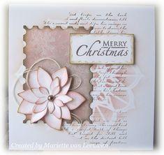 Stamping Mariëtte: De poinsettia stans van Studio Light Poinsettia Cards, Art Journals, November, Merry, Create, Magenta, Christmas, Studio, Decor