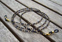 Brillenketten - Brillenkette - ein Designerstück von Silberrausch bei DaWanda Handmade Bracelets, Beaded Bracelets, Fashion Beads, Eyeglass Holder, Eyeglasses, Piercing, Jewelery, Jewelry Accessories, Jewelry Making