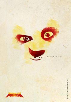 kung fu panda minimalist poster - Google 搜尋