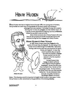 Heres A Packet Of Materials For Lesson On Henry Hudson After Reading Text
