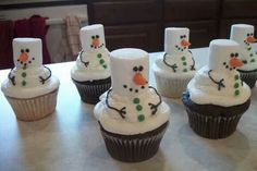 Snowmen cupcakes (Kenzie 2013)
