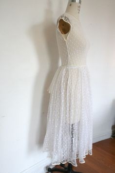 vintage 1950s dotted swiss dress