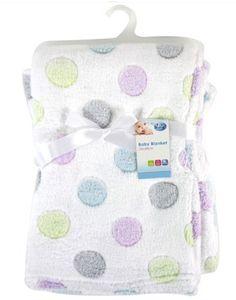 #puericultura First Steps – Manta para Bebé Lujosa de Lana Suave con Diseño de Puntos 75 x 100 cm para Bebé Desde Recién Nacido