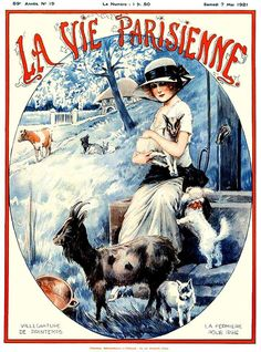 La Vie Parisienne Villegiature De Printemps May 7, 1921 Maurice Milliere