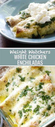 Weight Watchers White Chicken Enchiladas Recipe Diaries #weightwatchers #enchiladas #mexicanfood #chickendinner #WeightWatchersFood