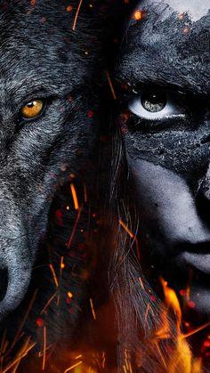 "Wallpaper for ""Alpha"" Fantasy Wolf, Dark Fantasy, Beautiful Wolves, Animals Beautiful, Wolves And Women, Alpha Wolf, Wolf Artwork, Werewolf Art, Wolf Spirit Animal"