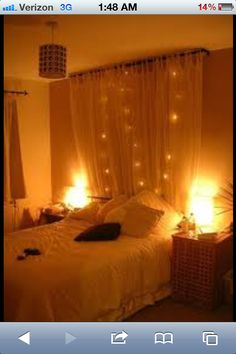 How to hang string bed lights