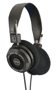 Grado SR60i - surprisingly affordable when compared to all the headphones I've owned over the years, yet sound quality surpasses all of them. I wonder what the higher up models sound like.