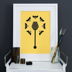 """honey bee"" by enclosedspaces."
