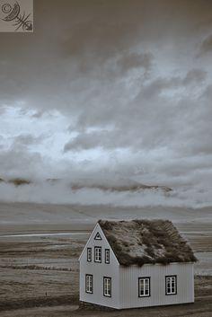 Museum village in Glaumbaer, Iceland