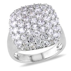 Ben Moss Jewellers Internet Exclusive.  Created White Sapphire, Sterling Silver Ring