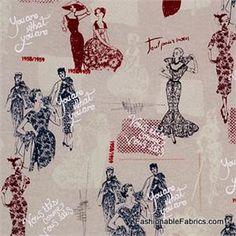 Couture Ladies by Timeless Treasures Paris-C9406-Linen