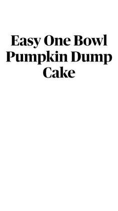 Fall Desserts, Cookie Desserts, Delicious Desserts, Dump Cake Recipes, Baking Recipes, Dump Cakes, Pumpkin Recipes, Fall Recipes, Cake Cookies