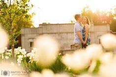 Spring Sunset Engagement Photo | Mellon Park Shadyside Engagement | Pittsburgh
