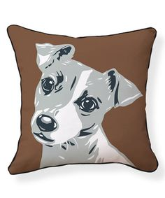 This Jack Russell Pillow is perfect! #zulilyfinds