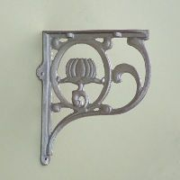 Decorative Cast Iron Art Nouveau Shelf Brackets