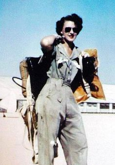 Lillian Yonally (above) was a WASP – a Women Airforce Service Pilot. During WWII, the 1,100 WASPs flew military aircraft on training flights in the USA to train volunteer male pilots for combat missions ~