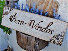 Placa Bem-Vindos Vintage