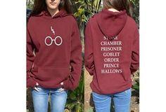 Harry Potter Hoddie Hoody Glasses Hogwarts Alumni BOOK Titles Sweater Sweatshirt [9324877508]