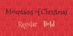 Mountains of Christmas Font Family · 1001 Fonts